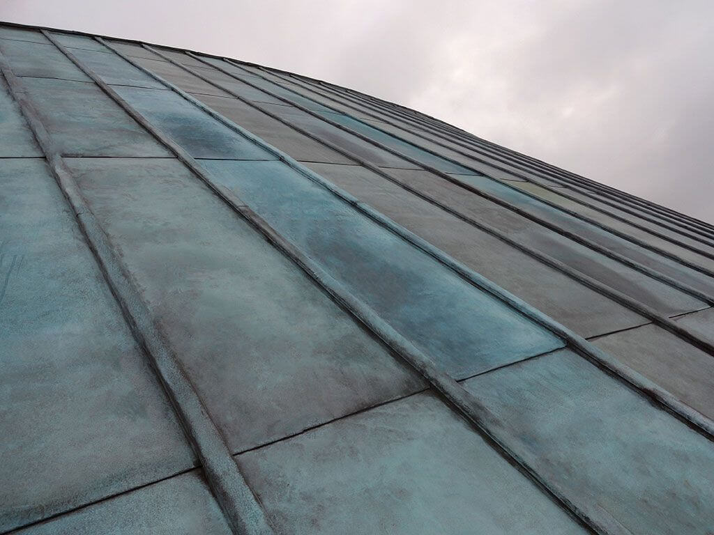 copper roof patina