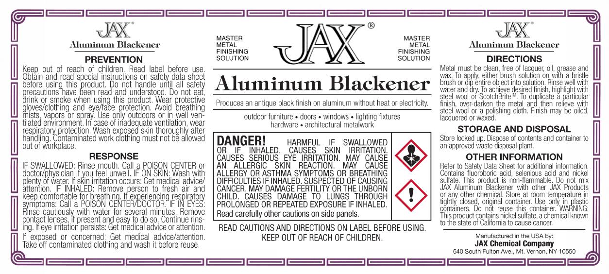 Jax Aluminum Blackener label