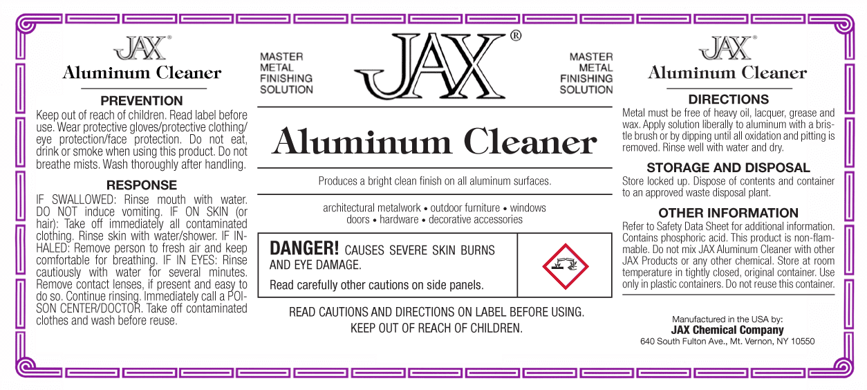 Aluminum Cleaner label