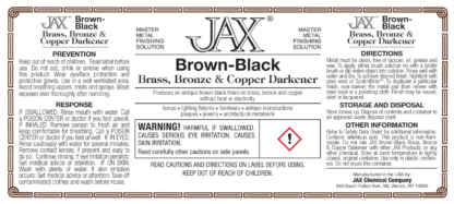 Brown-Black label