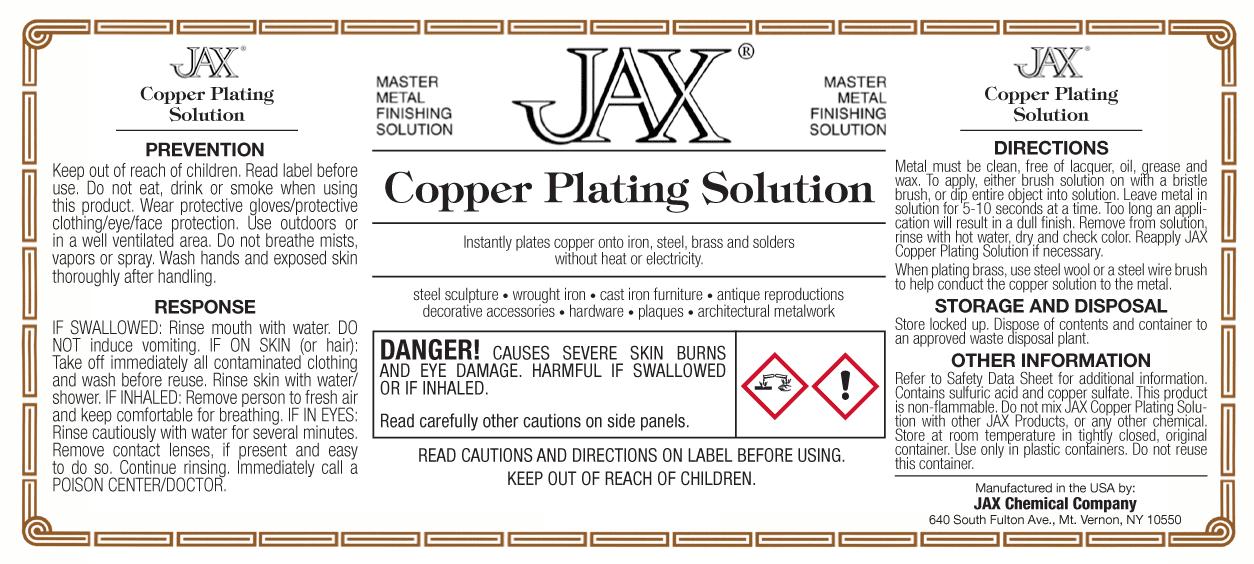 Copper Plating Solution label