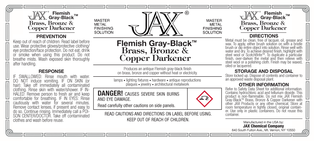 JAX Flemish Gray-Black label