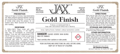 JAX Gold Finish label