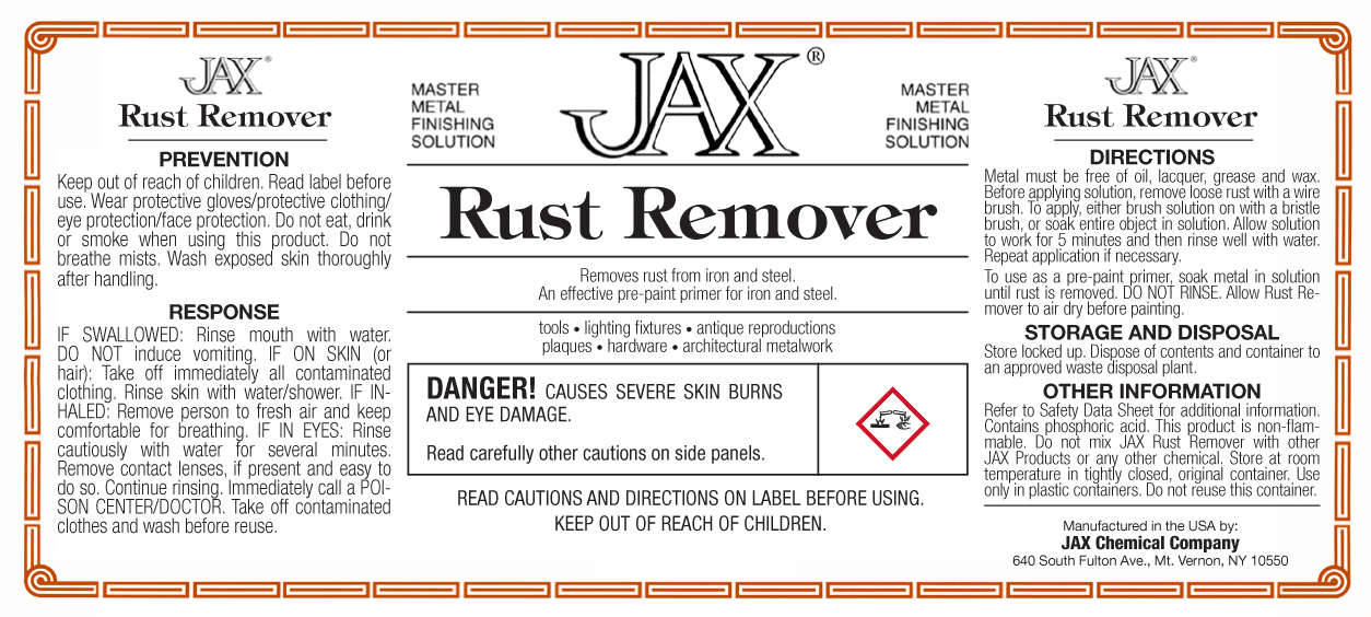 JAX Rust Remover label