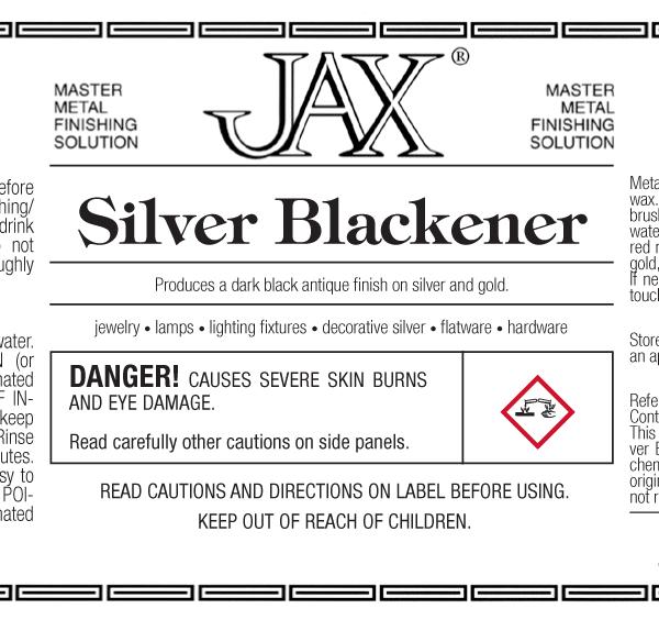 JAX Silver Blackener label