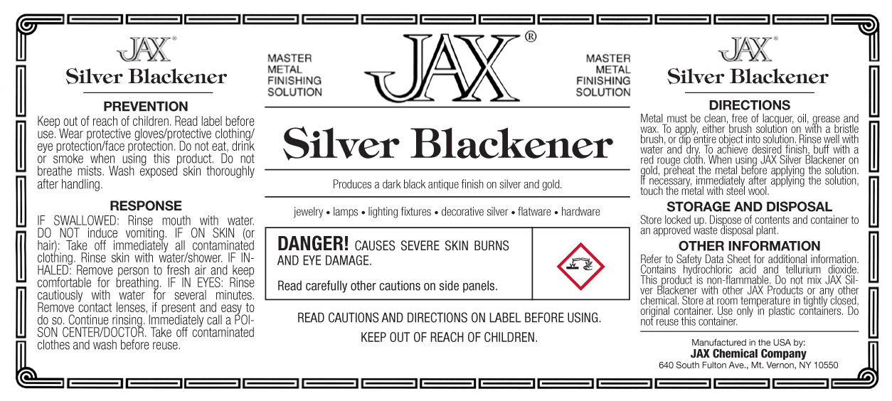 JAX Silver Blackener label