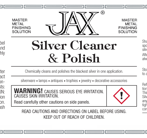 JAX Silver Cleaner and Polish label