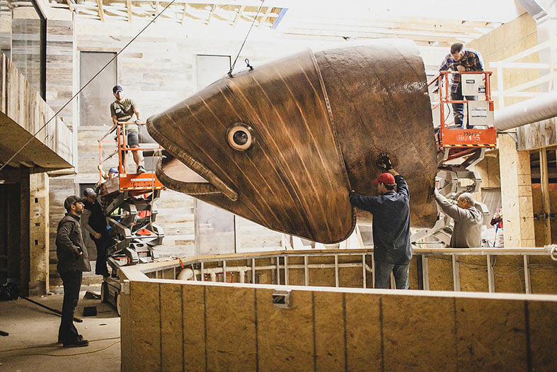 copper fish installation